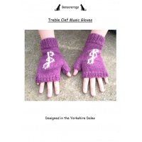 Treble Clef Music Gloves